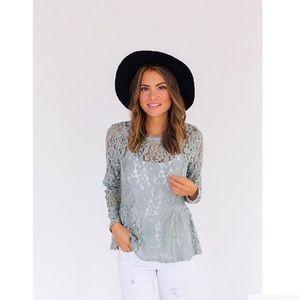 Tops - Peplum lace blouse